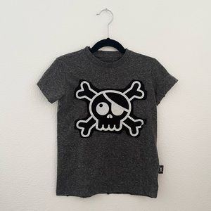 Nununu slub knit skull patch tee shirt unisex